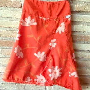 Keedo Orange Floral Skirt Girls 5/6